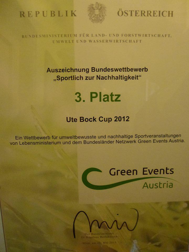 """Bundeswettbewerb """"Sporttlich zur Nachhaltigkeit"""" - Urkunde 3. Platz (2013)"""